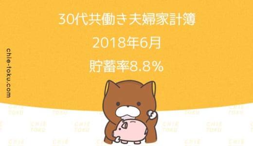 30代共働き夫婦の家計簿公開。貯蓄率はギリギリプラス(2018年6月)