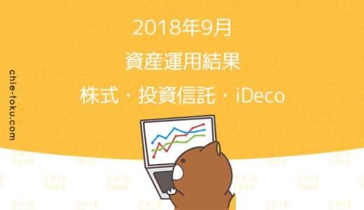 2018年9月資産運用状況(日本株式・米国株式・ETF・投資信託・イデコ)