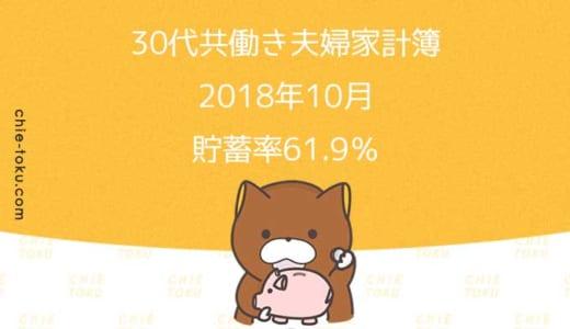 30代共働き夫婦の家計簿公開。貯蓄率は61.9%(2018年10月)