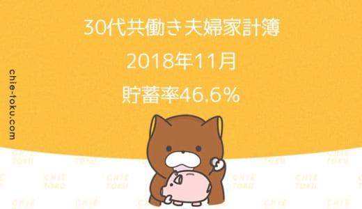 30代共働き夫婦の家計簿公開。貯蓄率は46.6%(2018年11月)