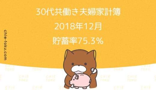 30代共働き夫婦の家計簿公開。貯蓄率は75.3%(2018年12月)
